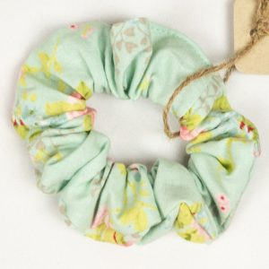 Scrunchie - Mint Floral