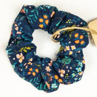 Scrunchie - Navy wCoral Floral