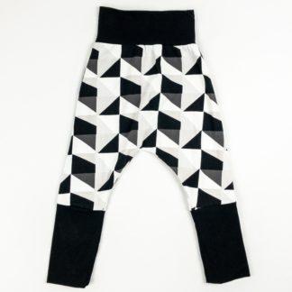Harem Pants - Mono Geo/Black