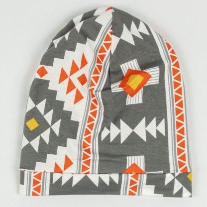 Beanie - Grey Aztec
