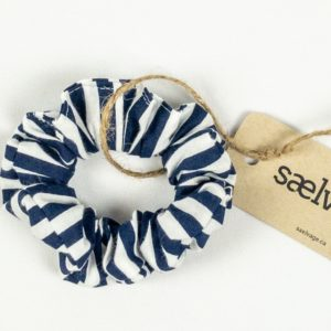 Scrunchie - Navy Stripe Small