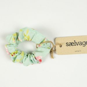 Scrunchie - Mint Floral (small)