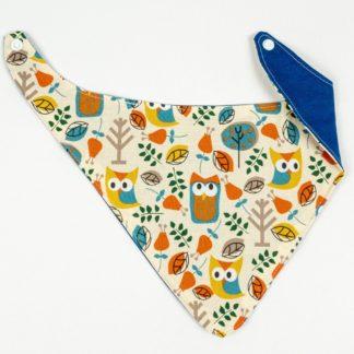Bib - Owl/Royal Blue