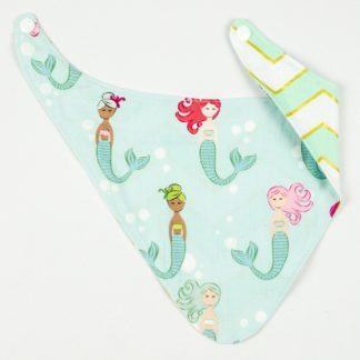 Bib - Mermaid on Mint/Mint Chevron