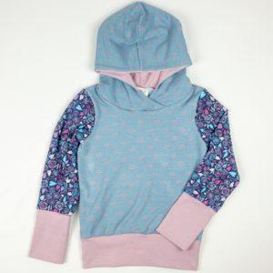Hoodies - Blue Dot/Circle Floral/Mauve