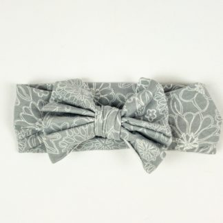 Bow Headband - Grey Wire Floral