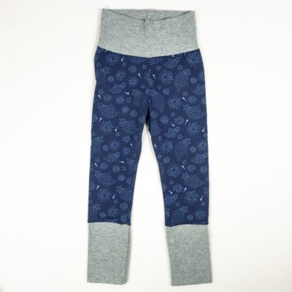 Leggings - Navy Starburst/Grey