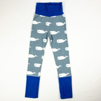 Leggings - Grey Whale/Royal