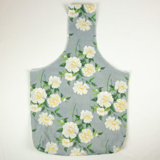Upcycled Cloth Bag - Grey Floral