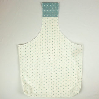 Upcycled Cloth Bag - Blue Polka Dot
