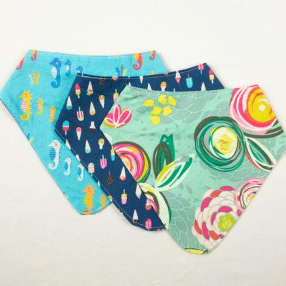Bundle - Bib Bundle - Floral/Ice Cream/Seahorse