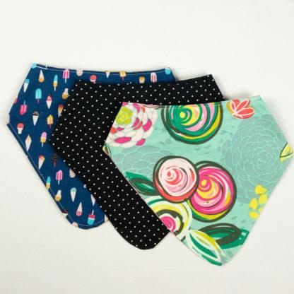 Bundle - Bib Bundle - Floral/Pindot/Ice Cream