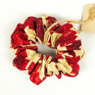 Scrunchie - Red Maple Leaf