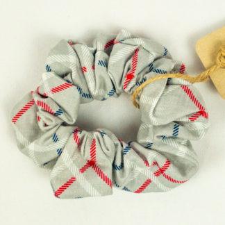 Scrunchie - Grey Plaid