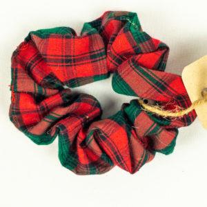 Scrunchie - 80's Red Plaid