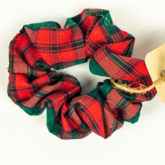Scrunchie - 80's Red Plaid