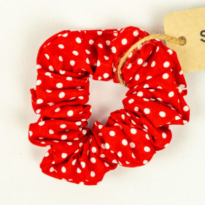 Scrunchie - Red Polkadot