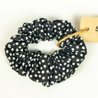 Scrunchie - Black Polkadot