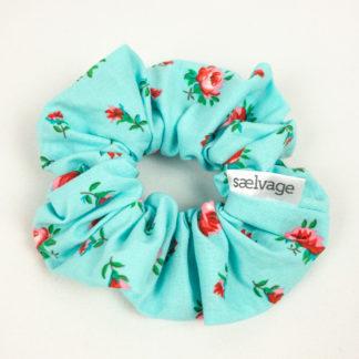 Scrunchie - Aqua Floral