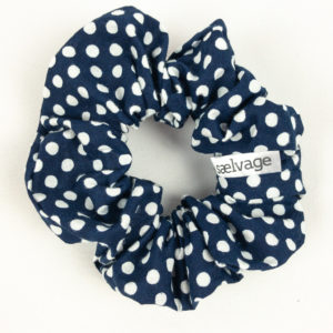 Scrunchie - Navy Dot