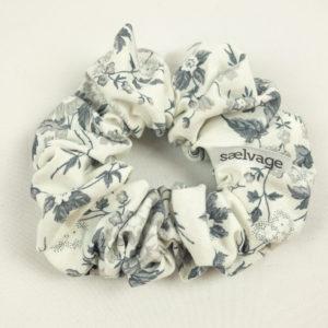 Scrunchie - Grey Floral