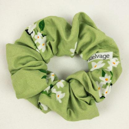 Scrunchie - Green Floral