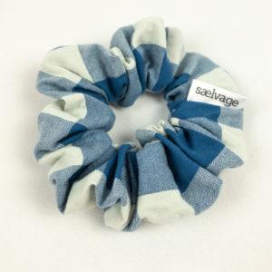 Scrunchie - Blue Gingham