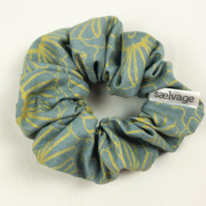 Scrunchie - Gunmetal Floral