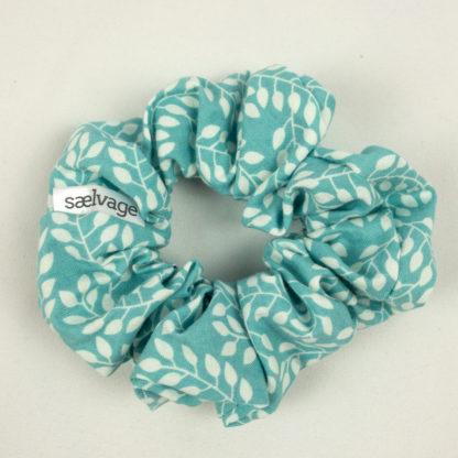 Scrunchie - Aqua Leaf