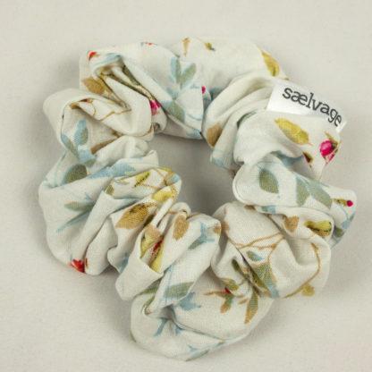 Scrunchie - White Floral