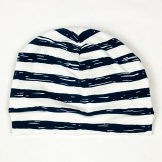 Beanie - Navy Painted Stripes