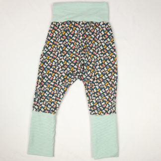 Harem Pants - Butterfly/Mint Mini Stripes