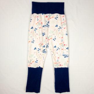 Harem Pants - Soft Pink Floral/Navy
