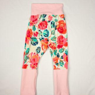 Harem Pants - Pixel Floral/Ballet Pink