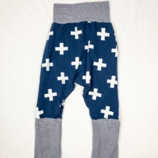 Harem Pants - Navy Plus/Navy Micro Stripe