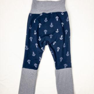 Harem Pants - Anchors/Navy Micro Stripe